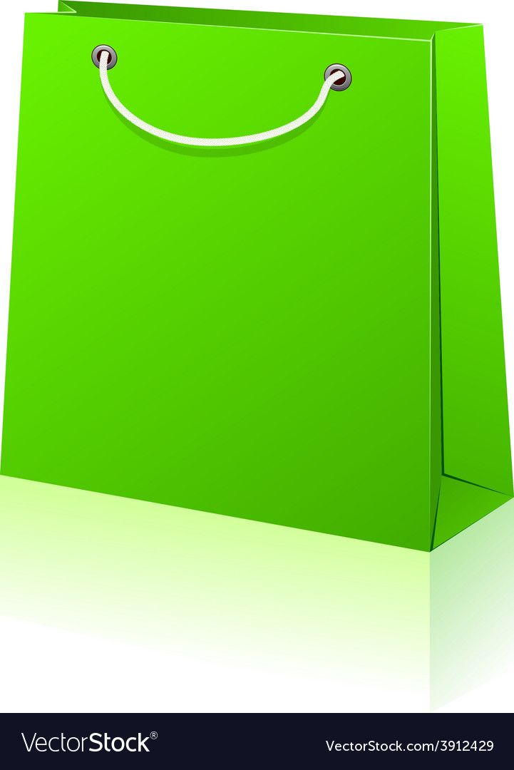 Green shopping bag vector   Price: 1 Credit (USD $1)