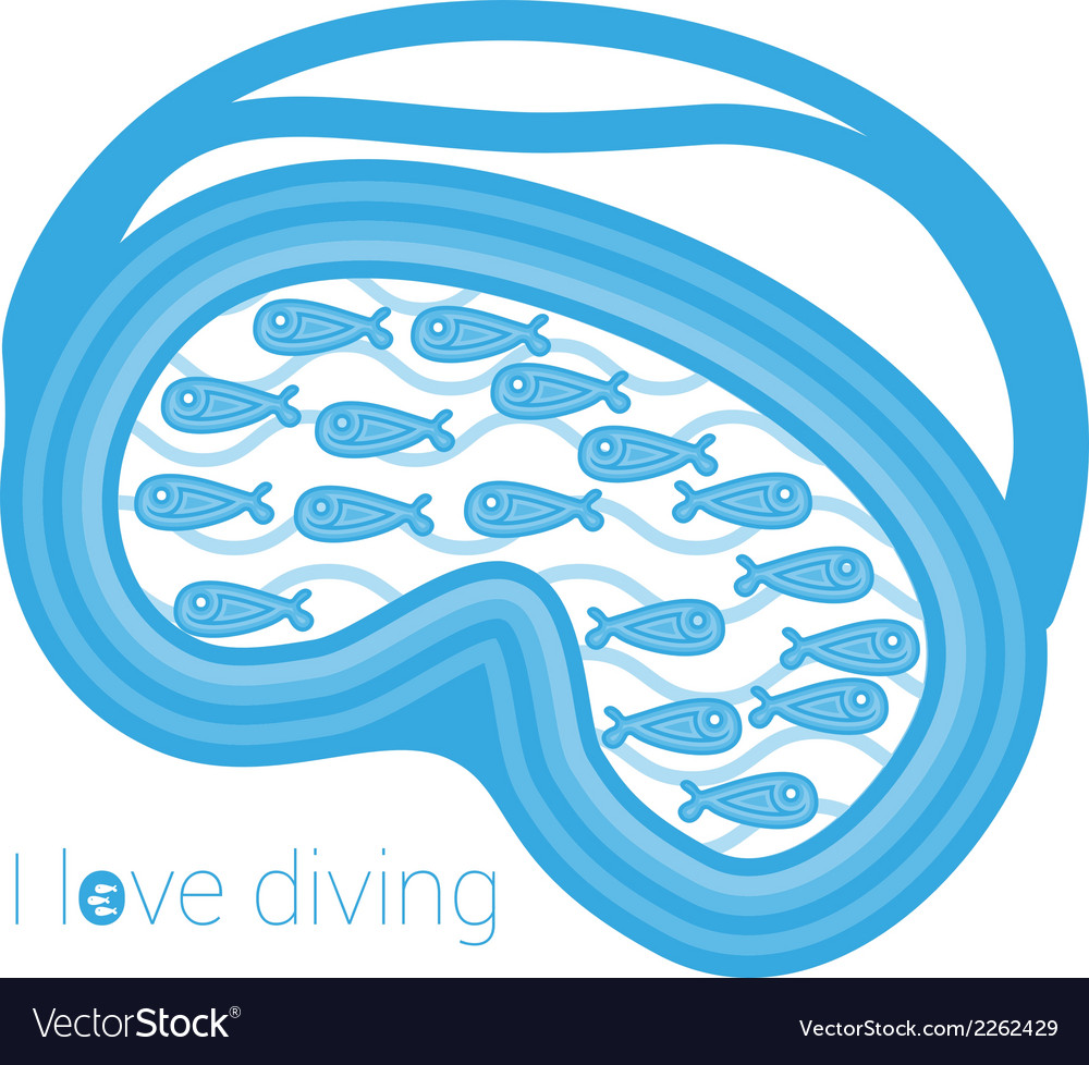 I love diving vector | Price: 1 Credit (USD $1)
