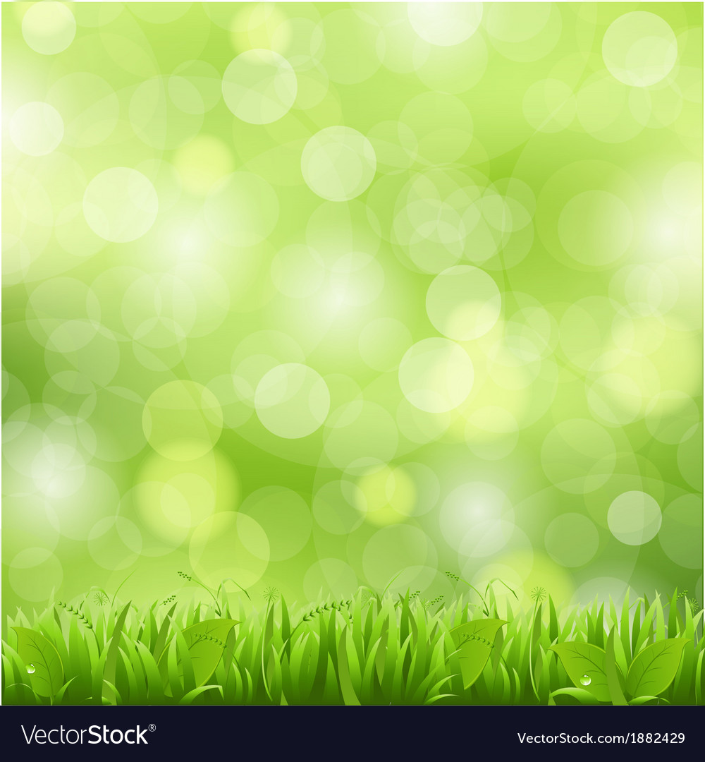Nature background with grass vector | Price: 1 Credit (USD $1)
