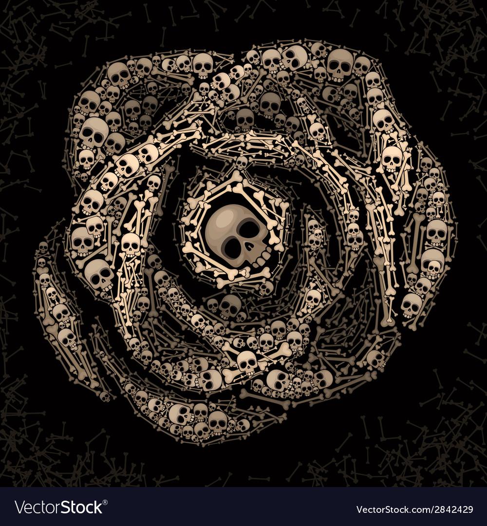 Rose of skulls and bones vector | Price: 1 Credit (USD $1)