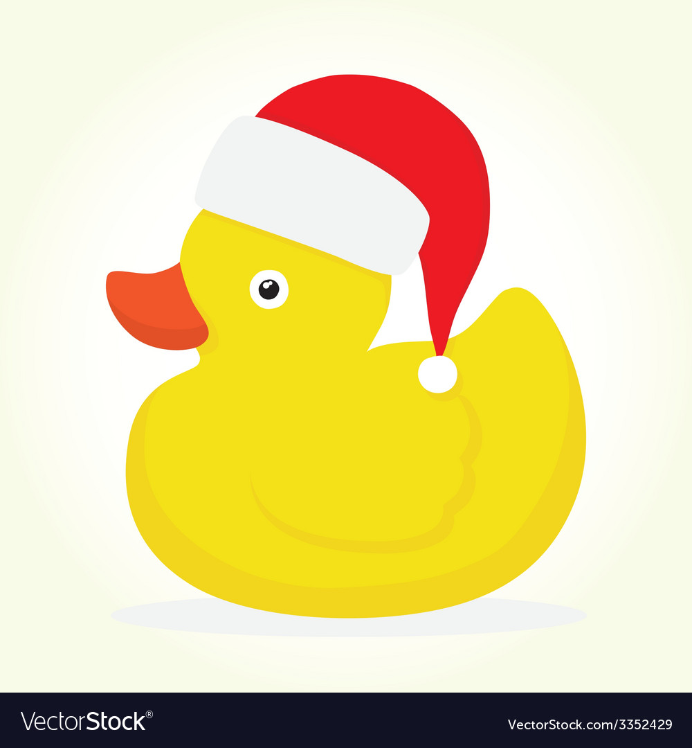 Rubber duck merry christmas vector | Price: 1 Credit (USD $1)