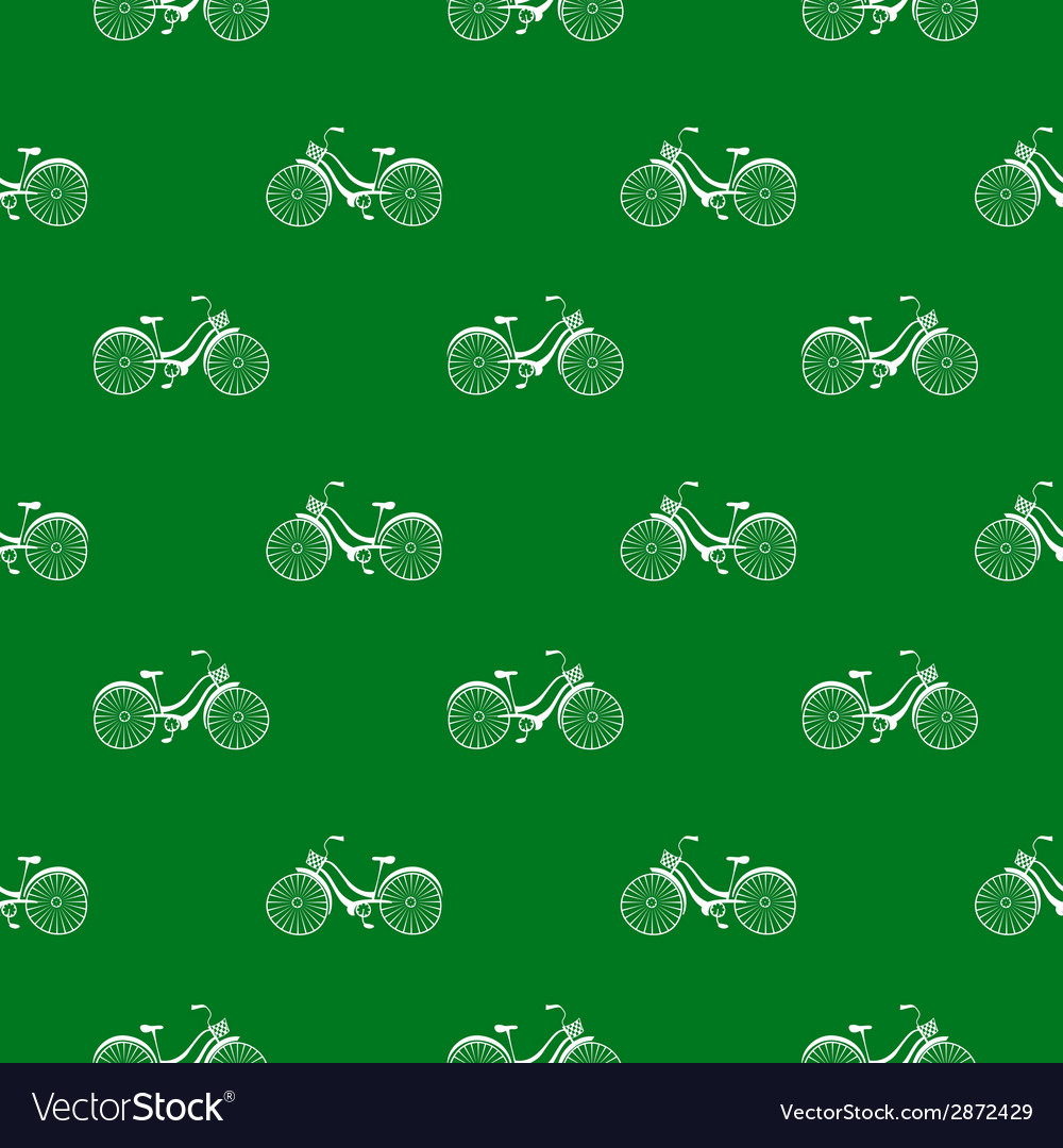 Seamless pattern with repeated images of bicycle vector | Price: 1 Credit (USD $1)