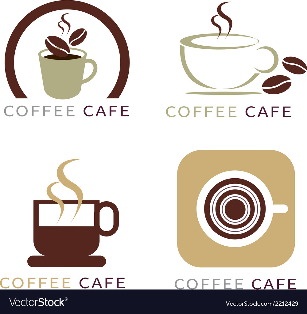 Set of icon on coffee element vector | Price: 1 Credit (USD $1)