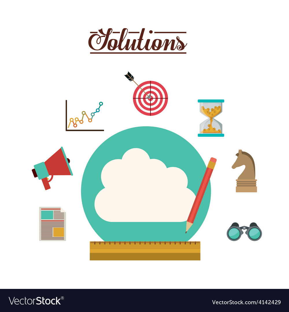 Solution icons design vector | Price: 1 Credit (USD $1)
