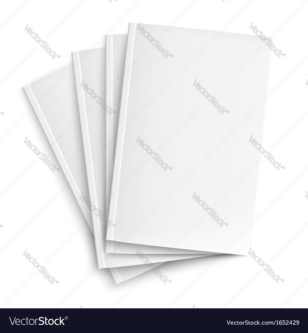 Stack of blank magazines template vector | Price: 1 Credit (USD $1)