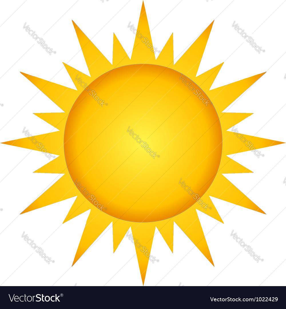 Summer hot sun vector | Price: 1 Credit (USD $1)