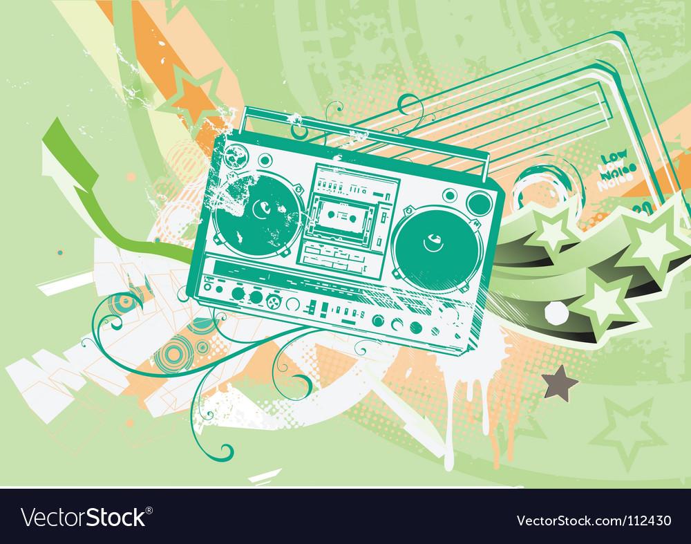 Boombox vector | Price: 1 Credit (USD $1)