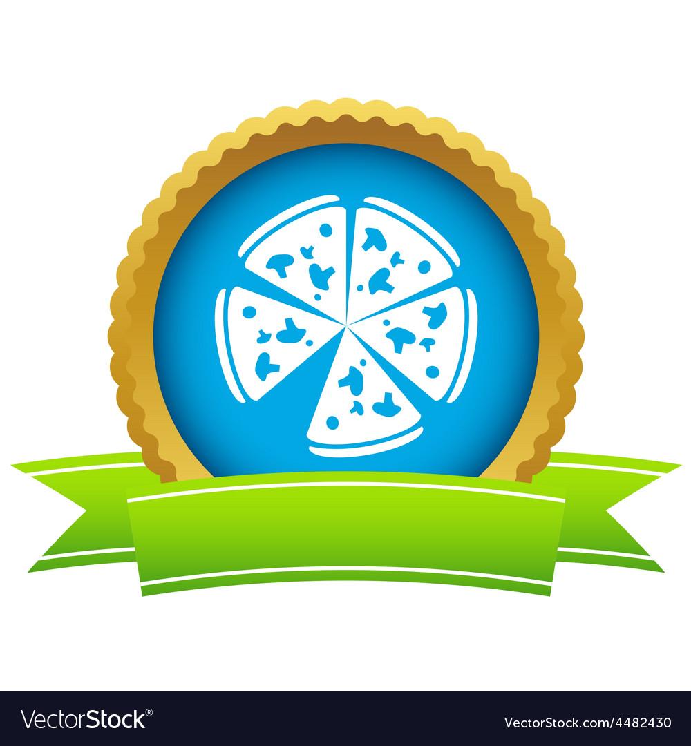 Gold pizza logo vector | Price: 1 Credit (USD $1)