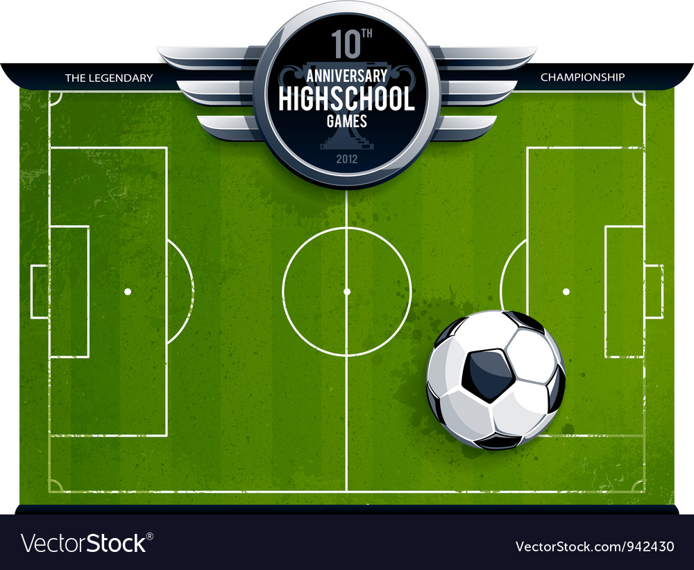 Grunge soccer field vector | Price: 3 Credit (USD $3)