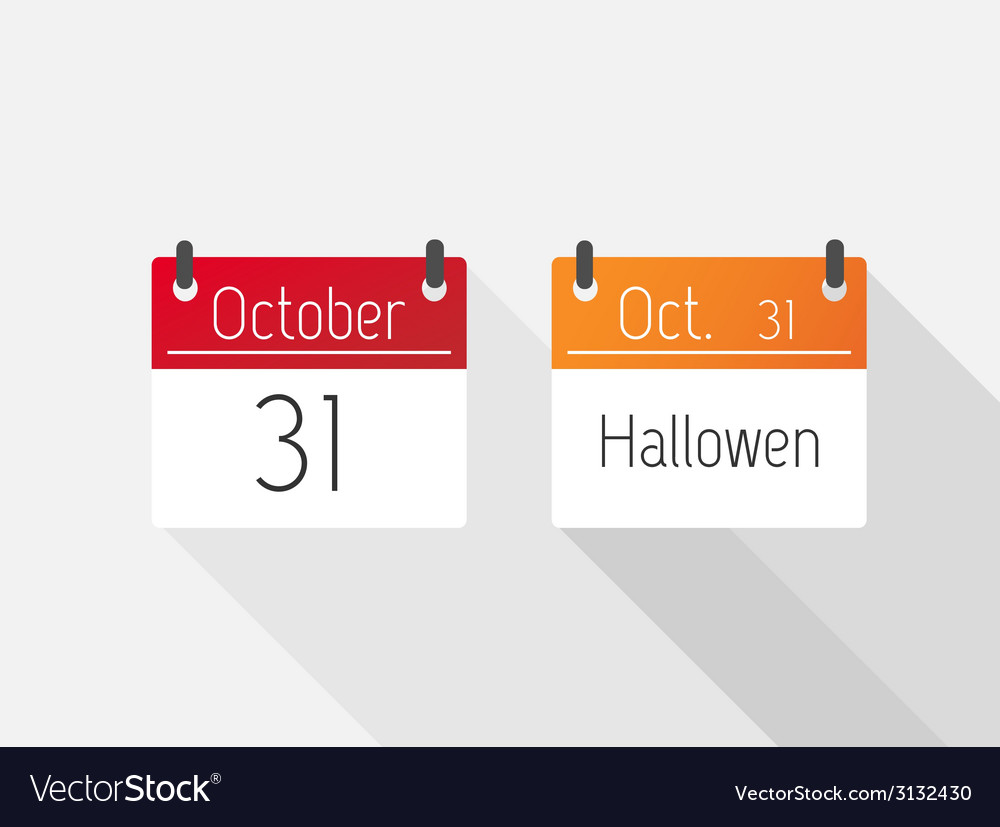 Halloween calendar vector | Price: 1 Credit (USD $1)