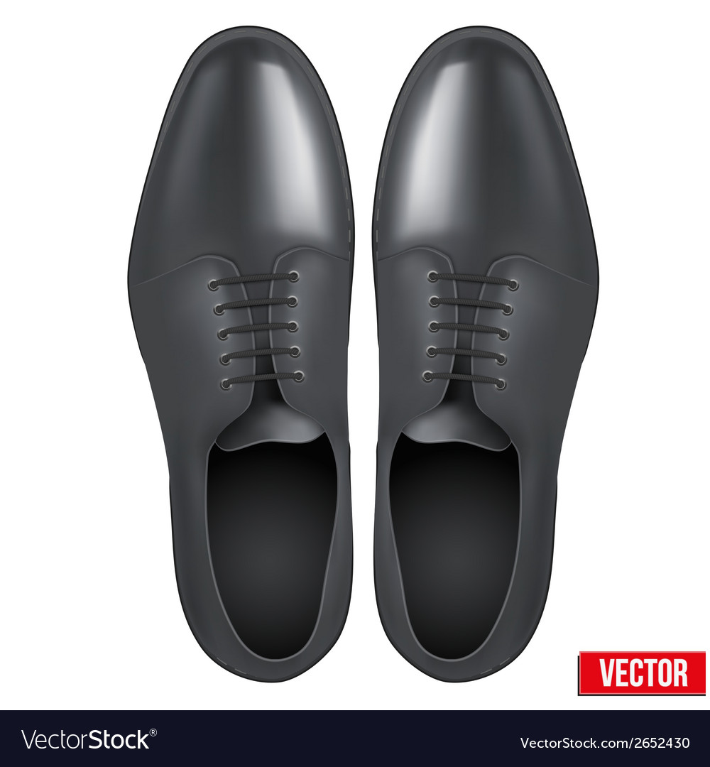 Male fashion classic black shoes vector | Price: 1 Credit (USD $1)