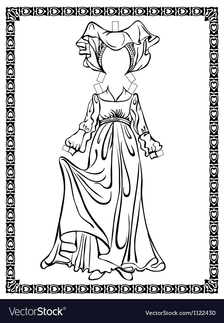 Medieval costume vector | Price: 1 Credit (USD $1)