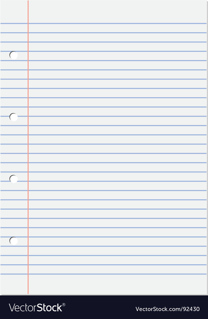 Notepad lined vector | Price: 1 Credit (USD $1)