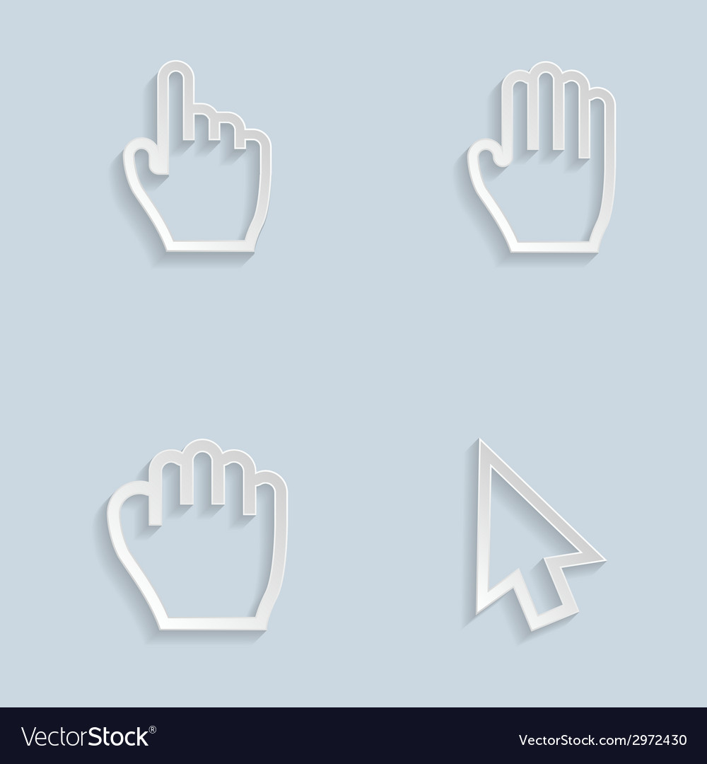 Paper hand cursors vector | Price: 1 Credit (USD $1)