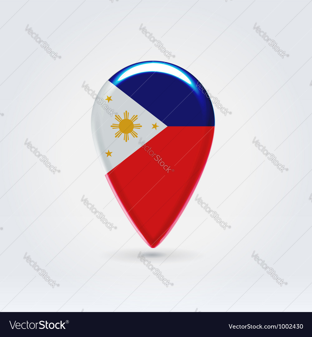Philippines icon point for map vector | Price:  Credit (USD $)