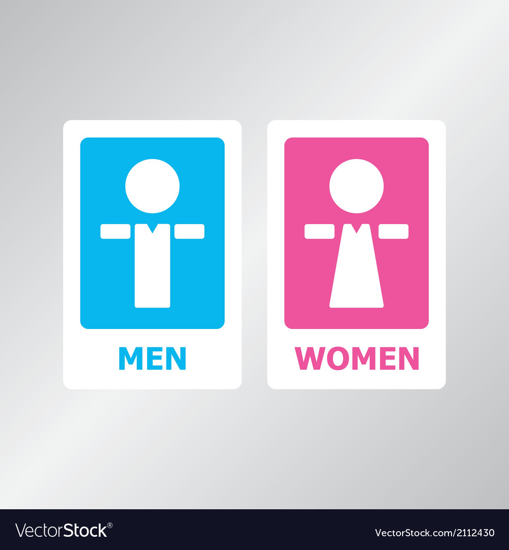 Restroom sign color vector | Price: 1 Credit (USD $1)