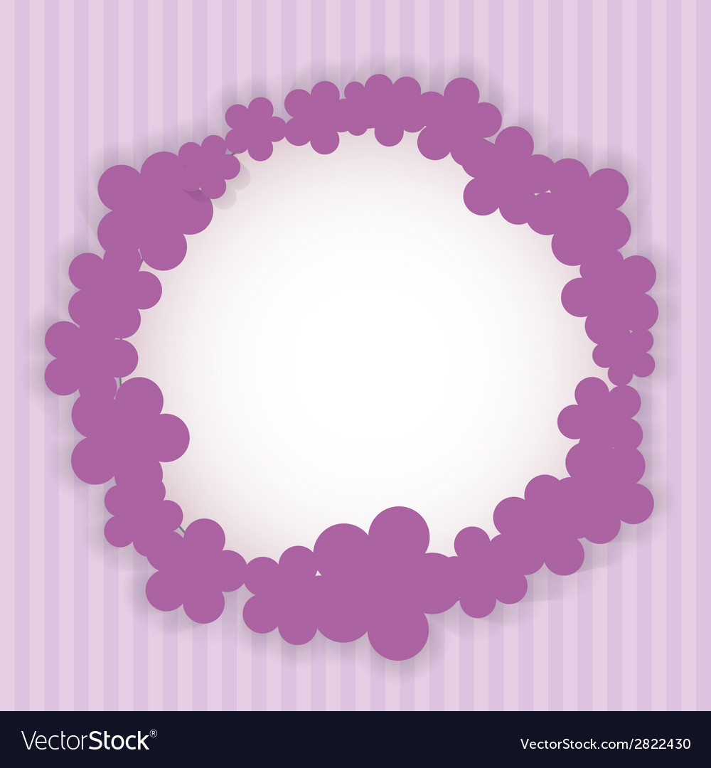 Romantic flower vintage invitation card background vector | Price: 1 Credit (USD $1)
