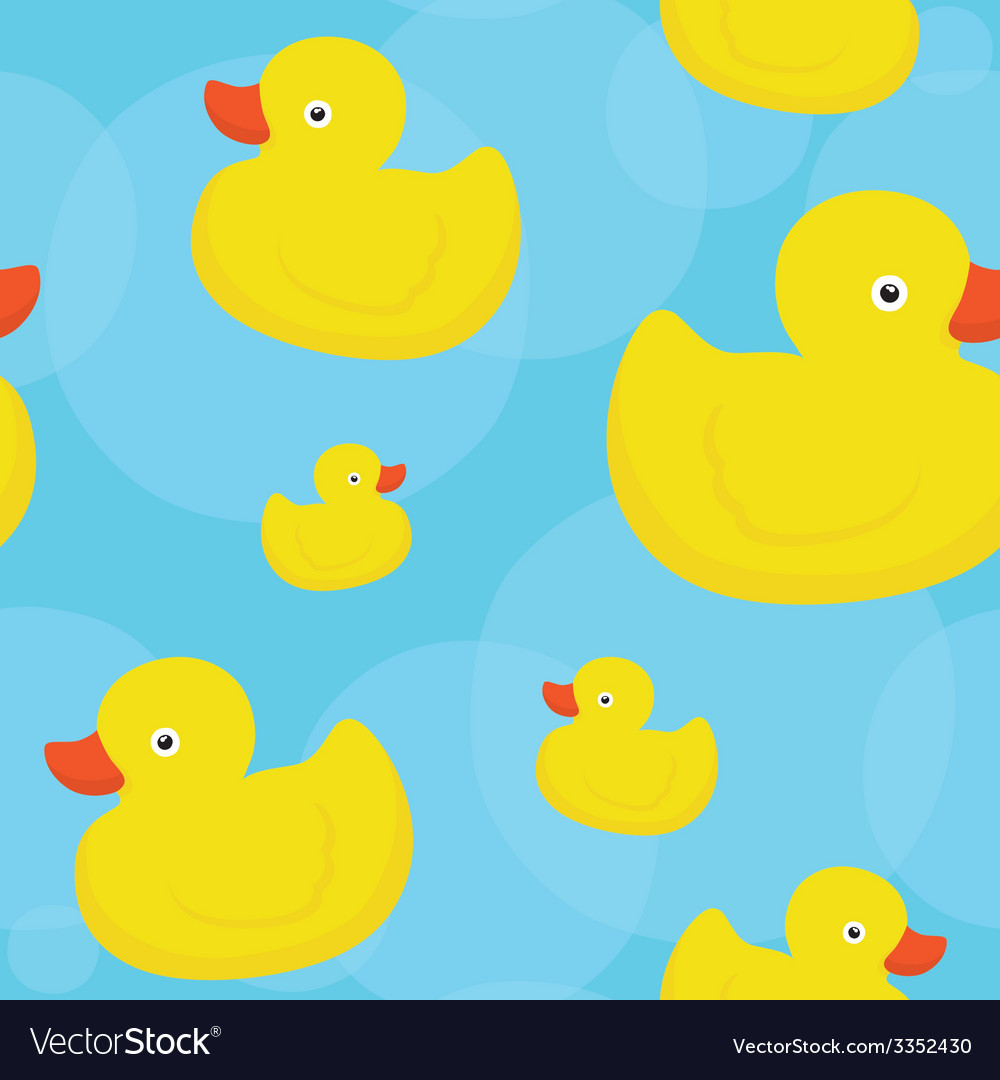 Rubber duck blue pattern vector | Price: 1 Credit (USD $1)