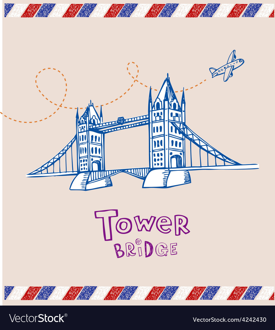 Tower bridge- symbol of london vector | Price: 1 Credit (USD $1)