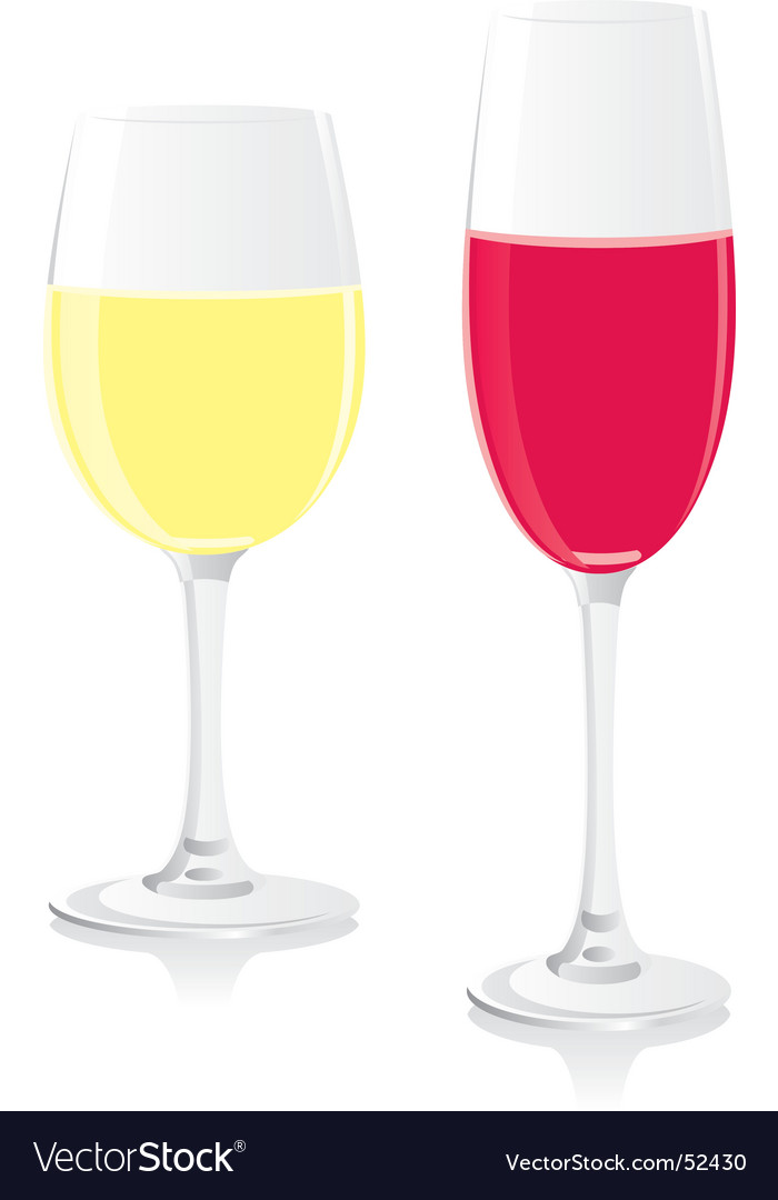 Wine and champagne glasses vector | Price: 1 Credit (USD $1)