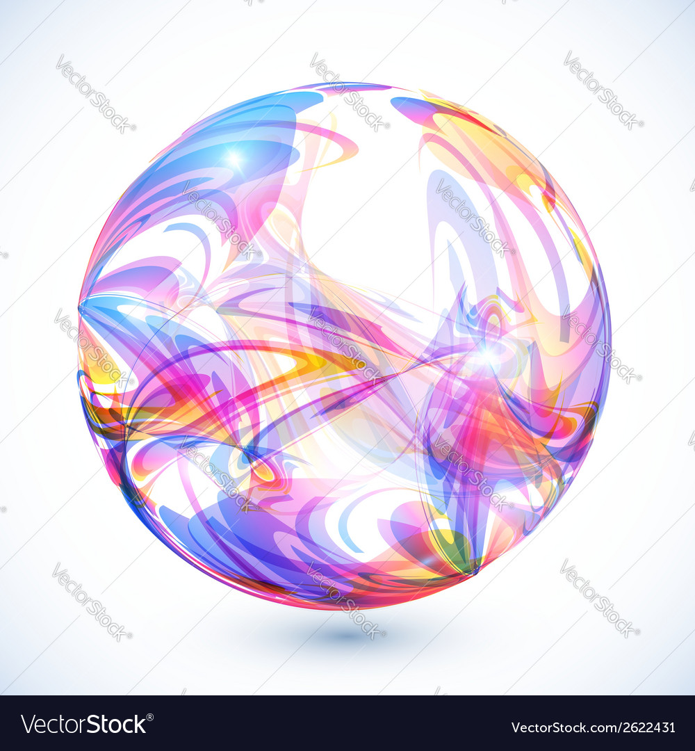 Abstract colorful sphere on white background vector | Price: 1 Credit (USD $1)