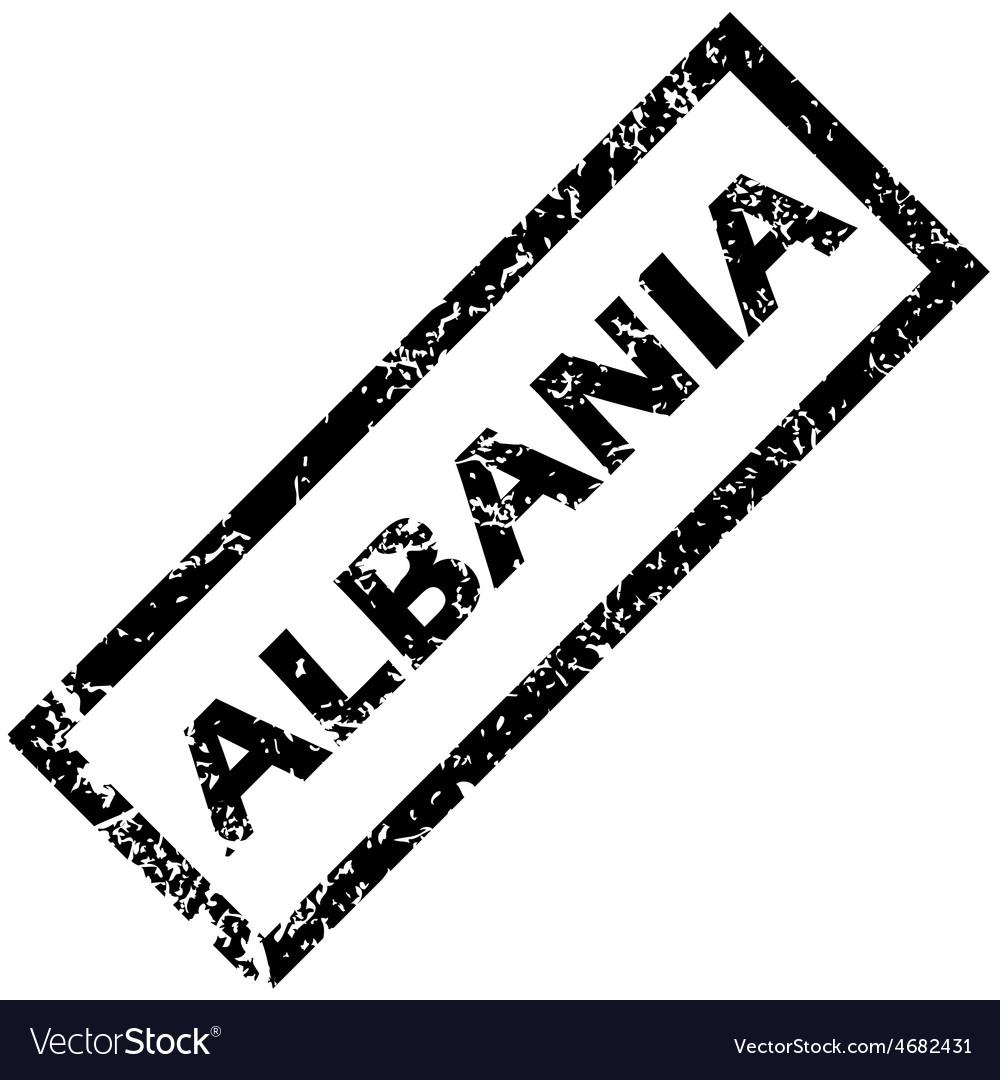 Albania rubber stamp vector | Price: 1 Credit (USD $1)