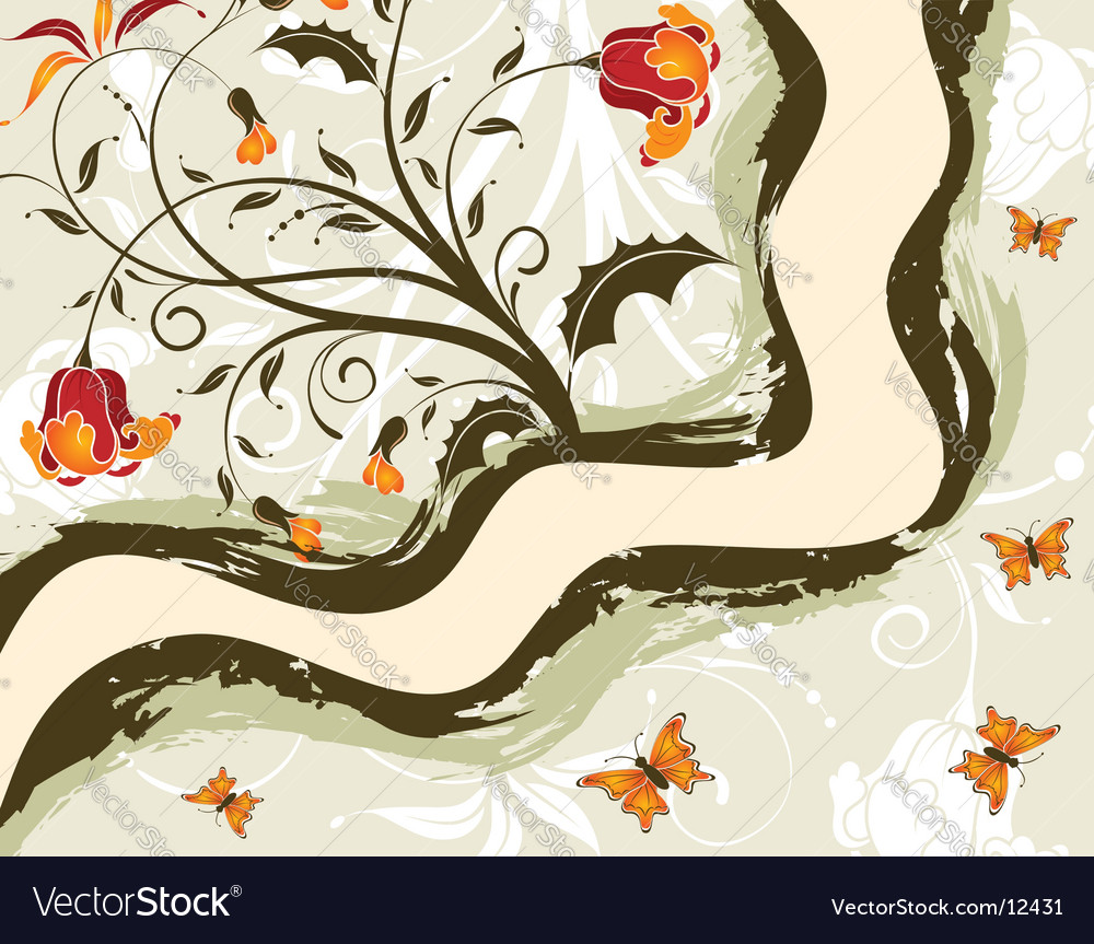 Background-flower vector | Price: 1 Credit (USD $1)