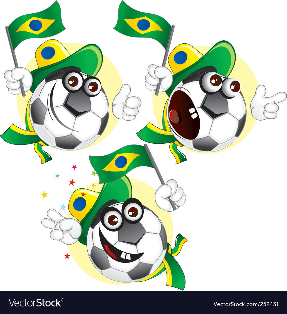 Brazilian cartoon ball vector | Price: 3 Credit (USD $3)