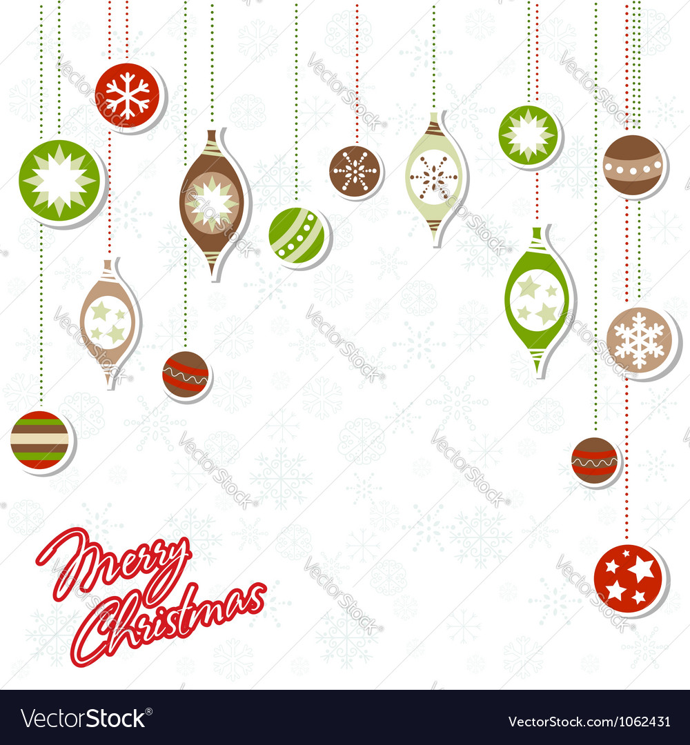 Christmas greeting card with xmas toys vector | Price: 1 Credit (USD $1)