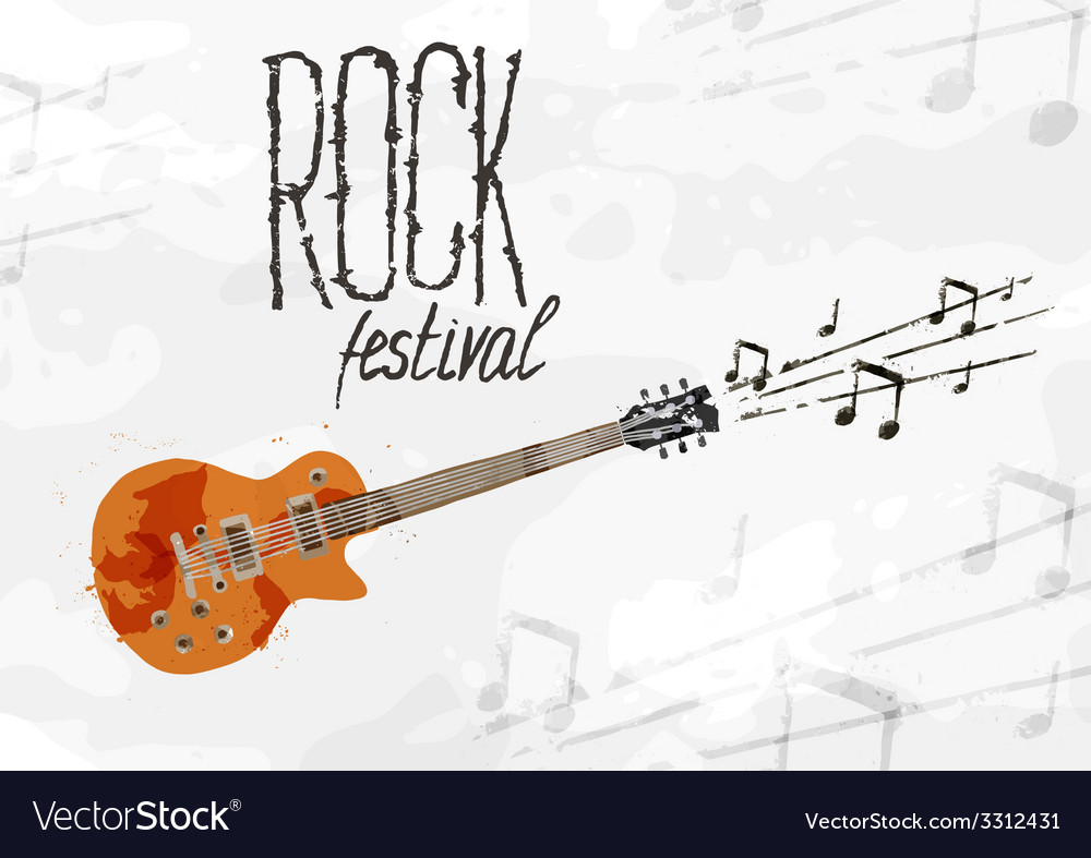 Creative abstract poster rock festival vector | Price: 1 Credit (USD $1)