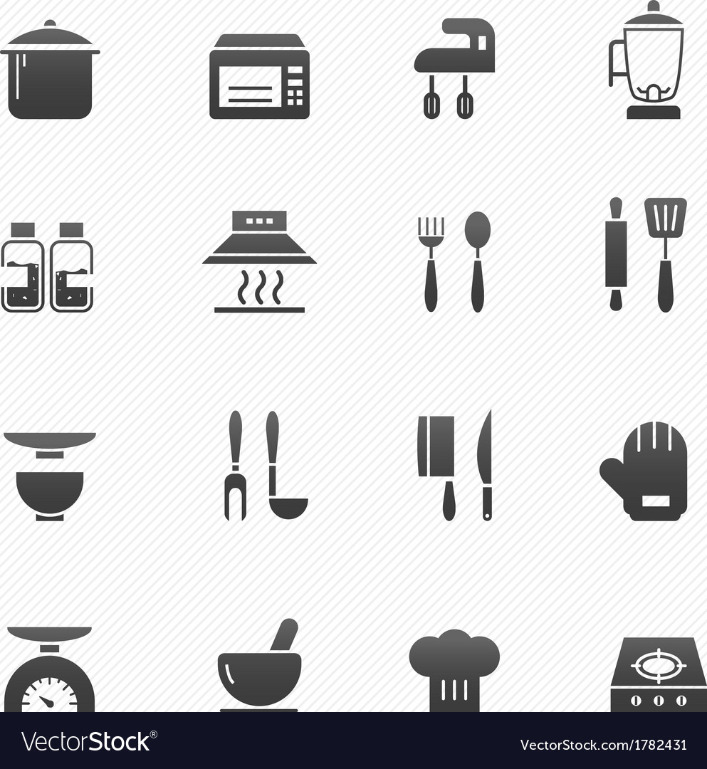 Kitchenware symbol icons vector | Price: 1 Credit (USD $1)