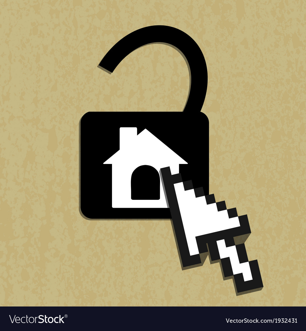 Lock house icon vector | Price: 1 Credit (USD $1)