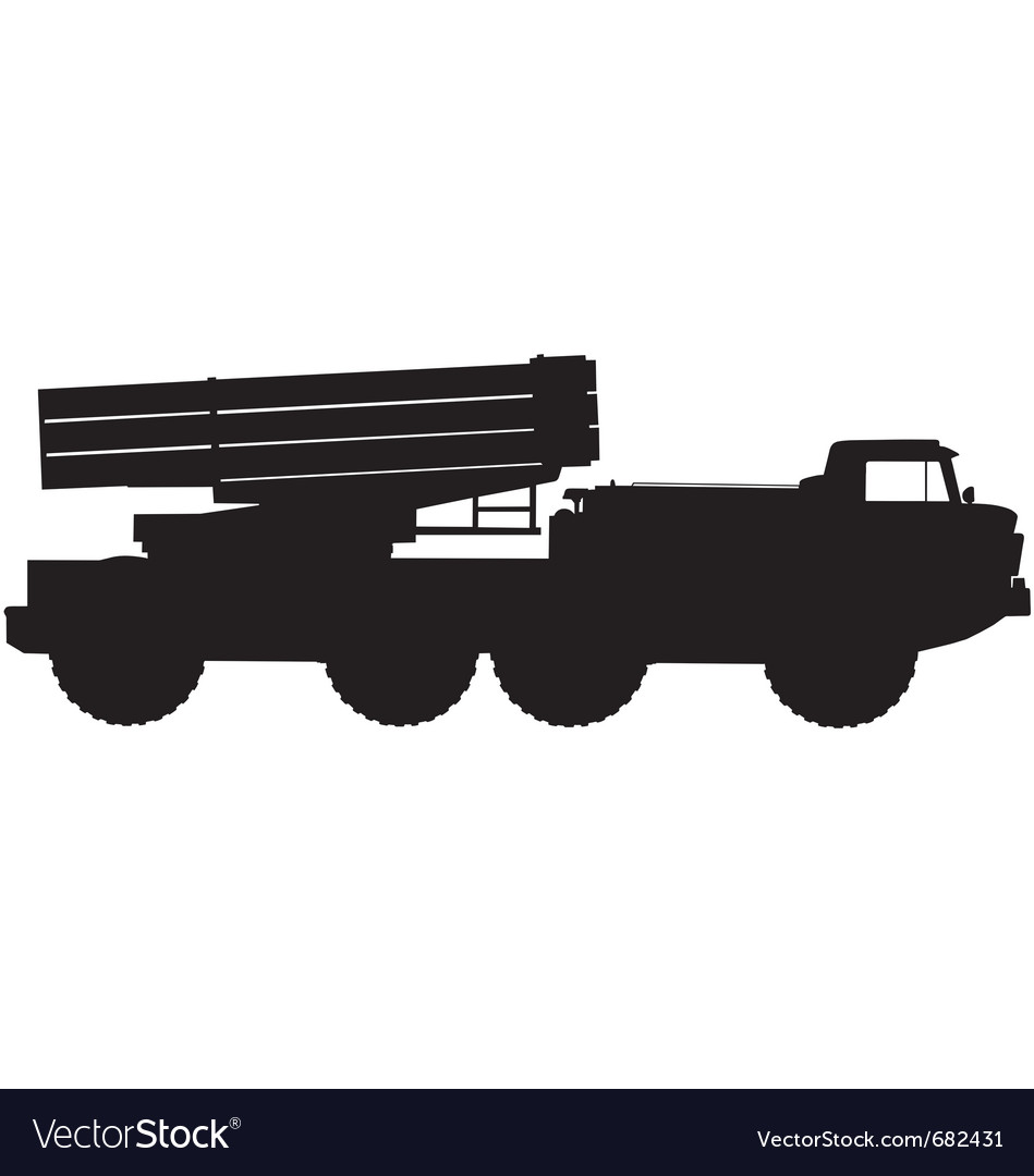Missile launcher silhouette vector | Price: 1 Credit (USD $1)