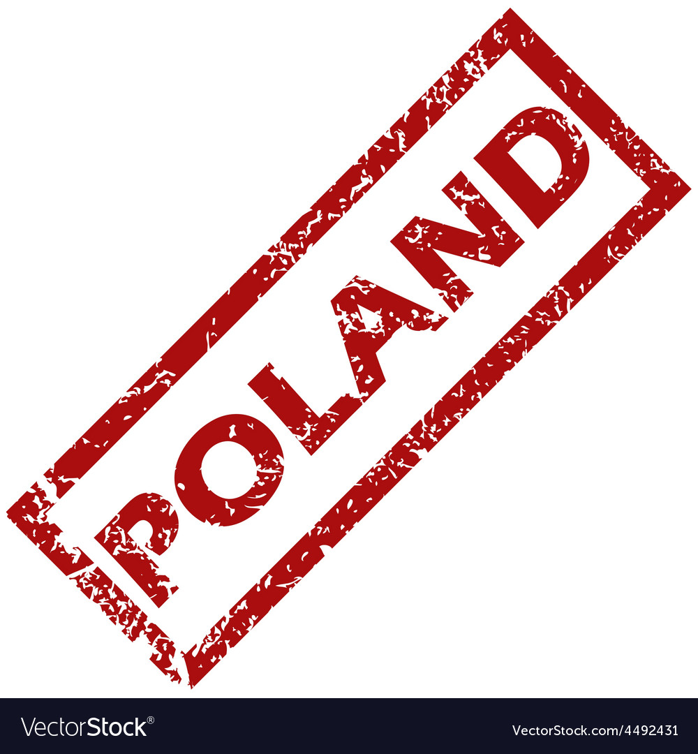 New poland rubber stamp vector | Price: 1 Credit (USD $1)