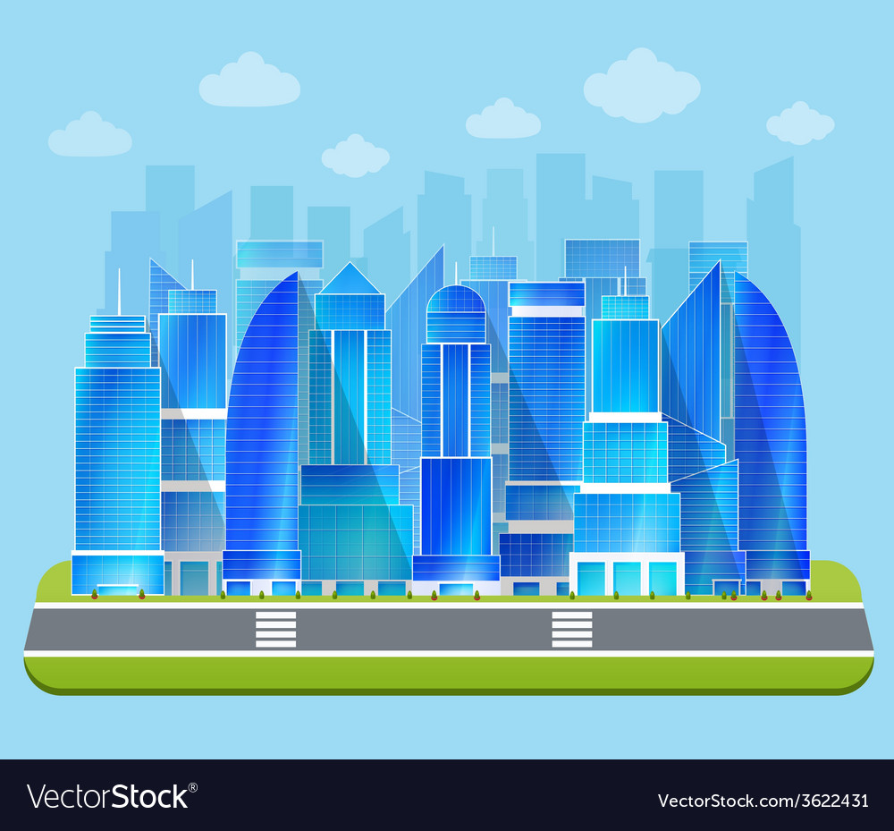 Office industrial cityscape vector | Price: 1 Credit (USD $1)
