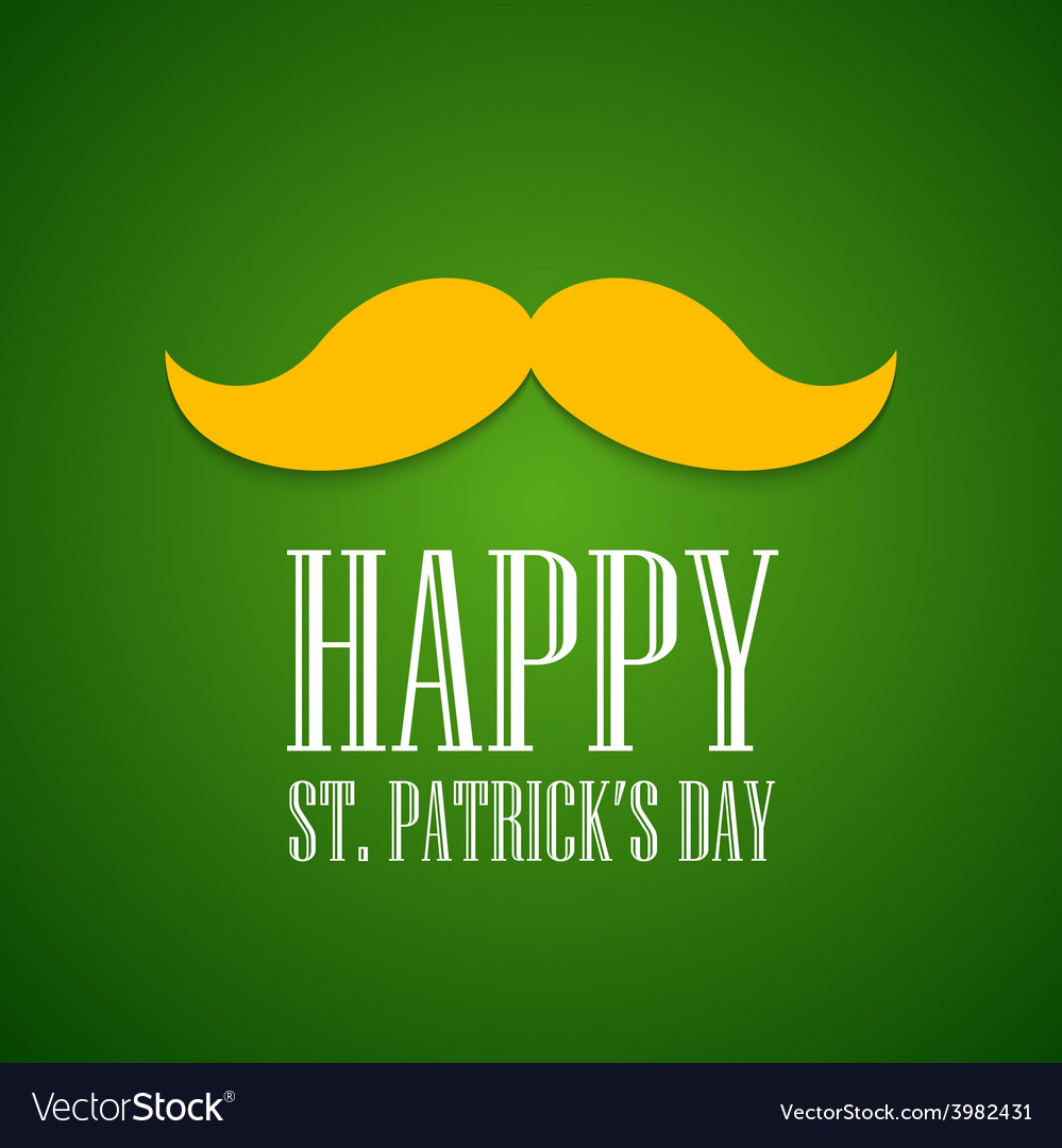 St patrick day greeting card vector | Price: 1 Credit (USD $1)