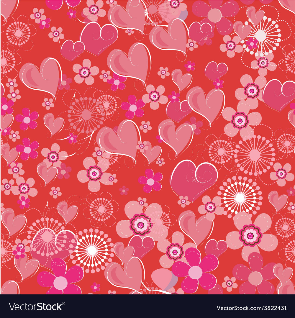 Valentines seamless background vector | Price: 1 Credit (USD $1)