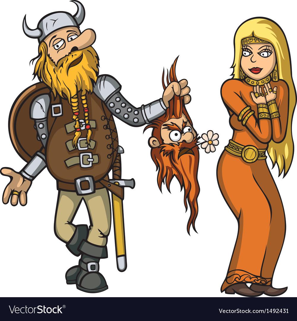 Viking in love vector | Price: 3 Credit (USD $3)