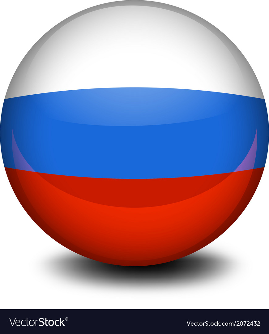 A ball with the russian flag vector | Price: 1 Credit (USD $1)