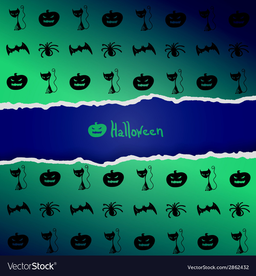 Background with pattern of halloween characters vector | Price: 1 Credit (USD $1)