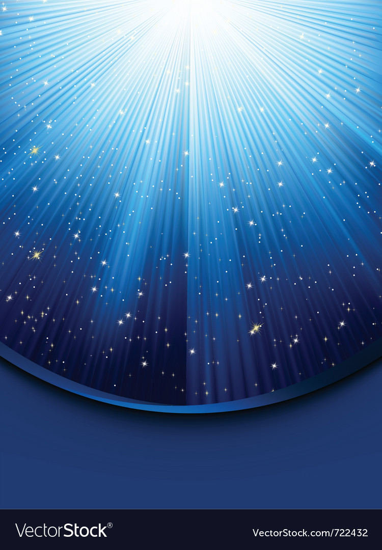 Blue luminous rays vector | Price: 1 Credit (USD $1)