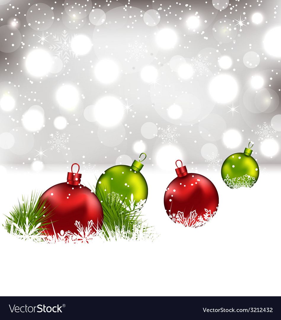 Christmas winter background with colorful glass vector | Price: 1 Credit (USD $1)