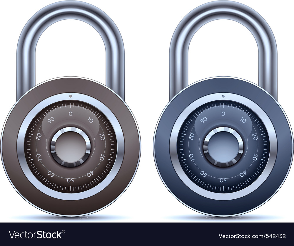 Combination lock collection vector | Price: 1 Credit (USD $1)