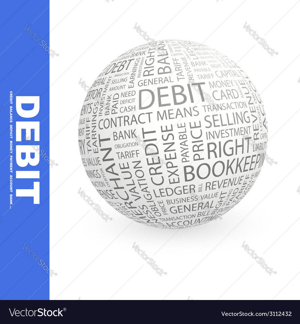 Debit vector | Price: 1 Credit (USD $1)