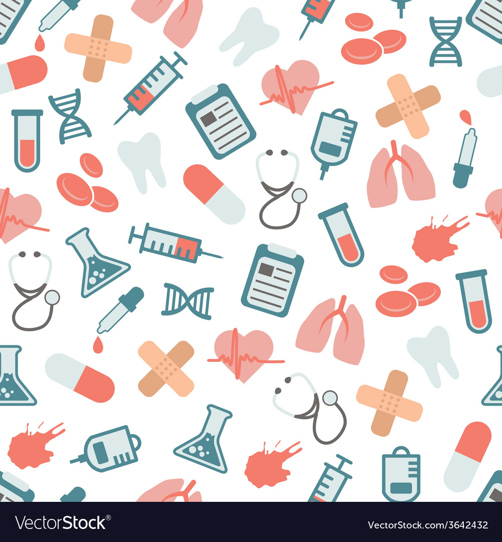 Doctor seamless pattern vector | Price: 1 Credit (USD $1)
