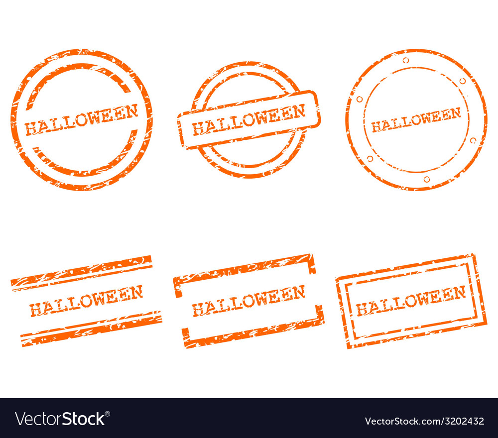 Halloween stamps vector | Price: 1 Credit (USD $1)