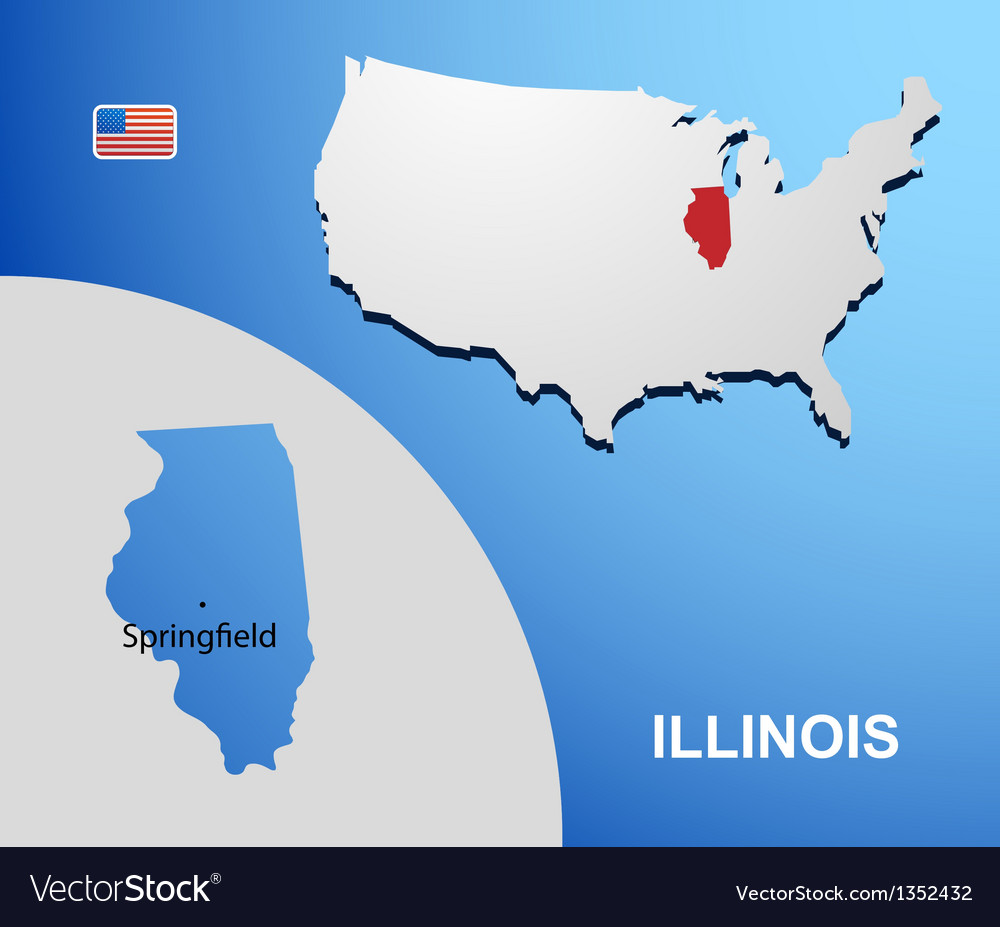 Illinois vector | Price: 1 Credit (USD $1)