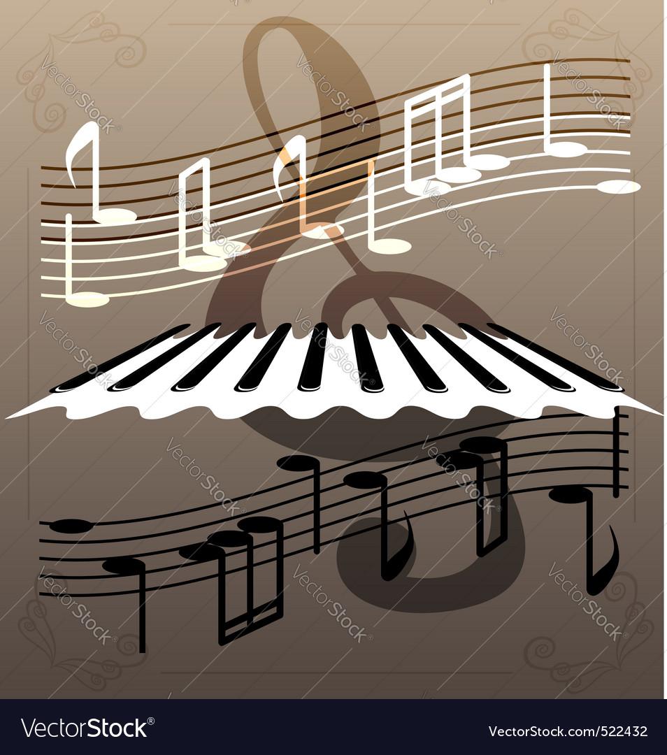 Piano keys vector | Price: 1 Credit (USD $1)