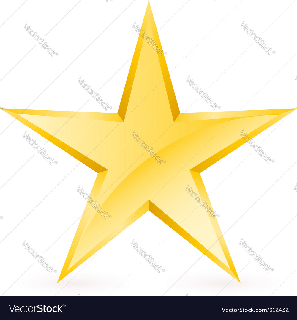 Shiny gold star vector | Price: 1 Credit (USD $1)