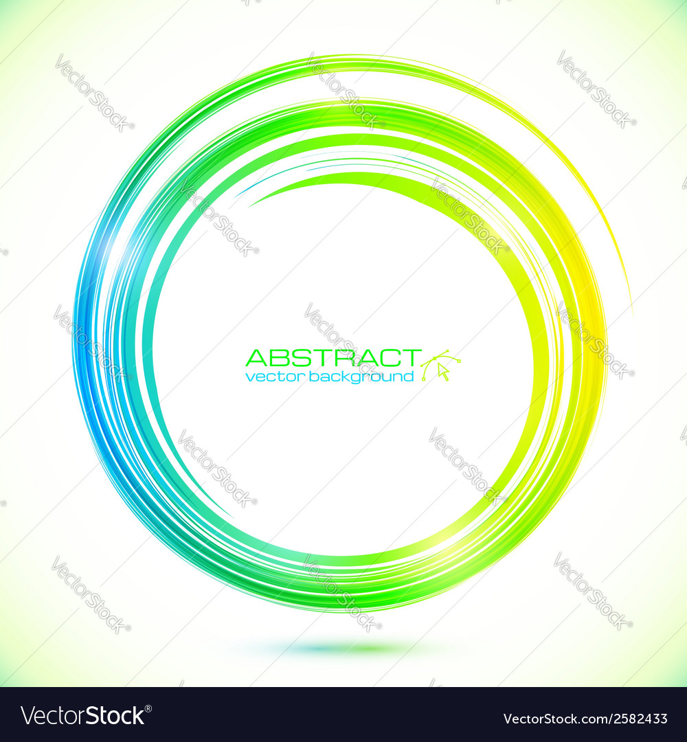 Abstract shining greencircle modern frame vector | Price: 1 Credit (USD $1)